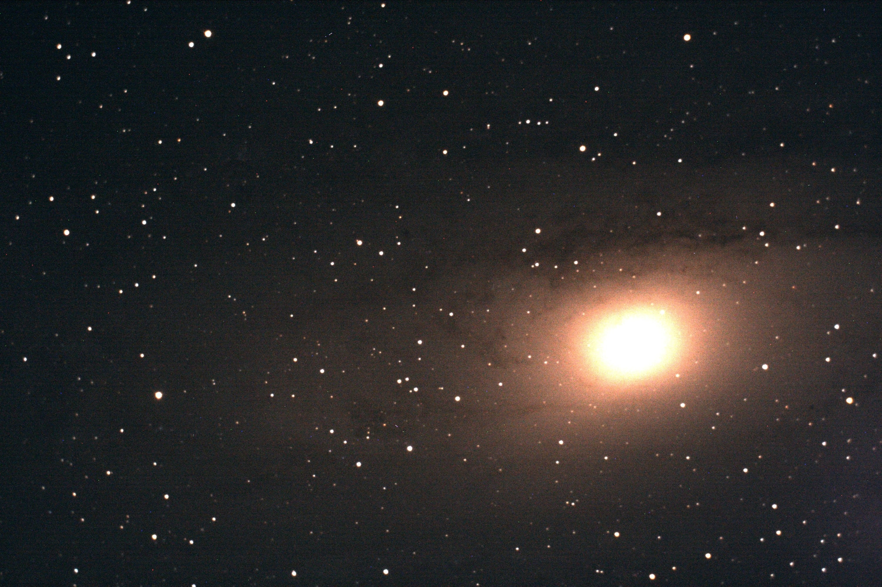 My first image of M31 galaxy. Shawn Nielsen 2008