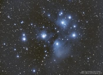 M45 the Pleiades star cluster. Shawn Nielsen, 2010