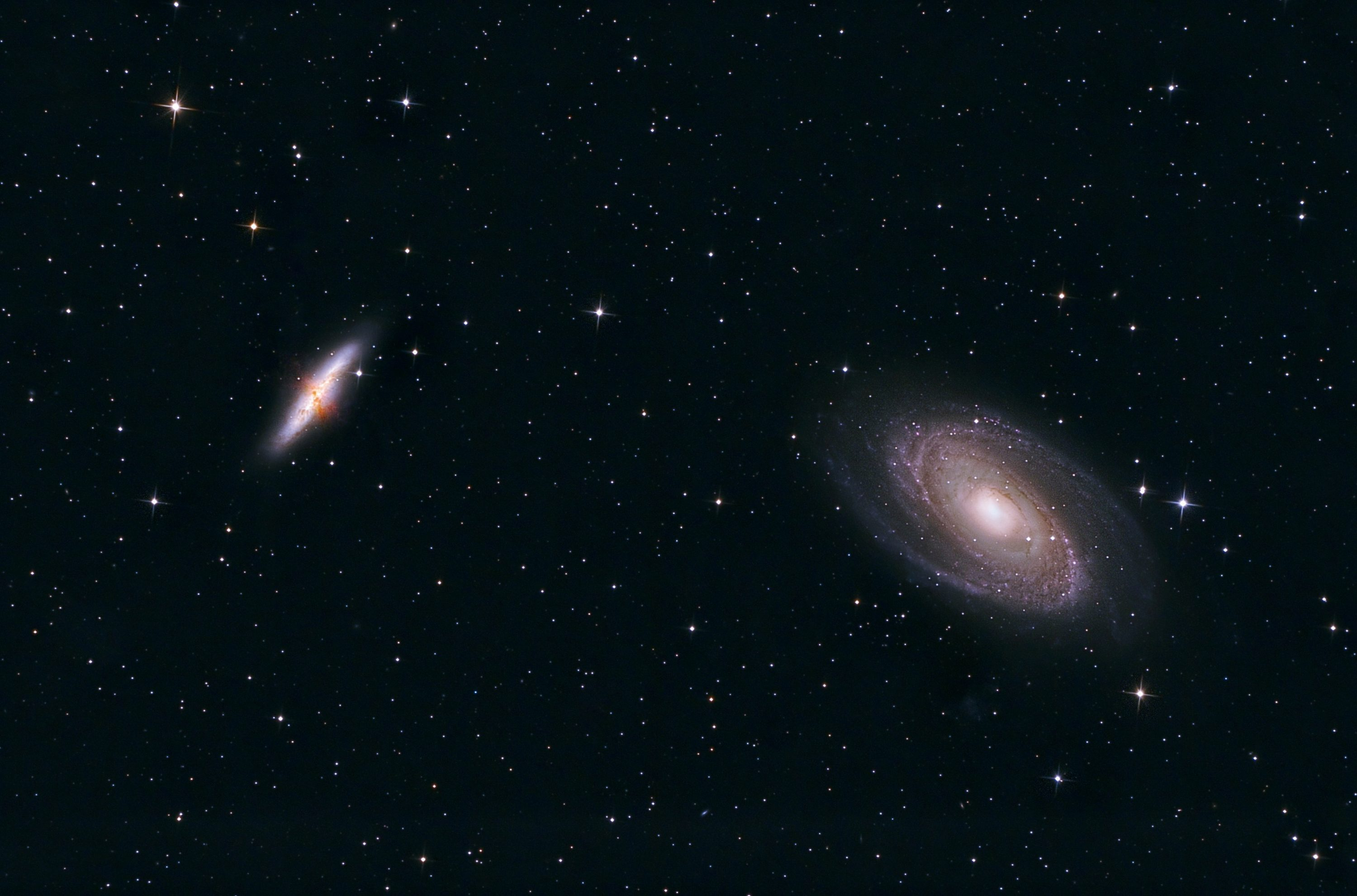 M81 and M82 galaxies. Shawn Nielsen 2013