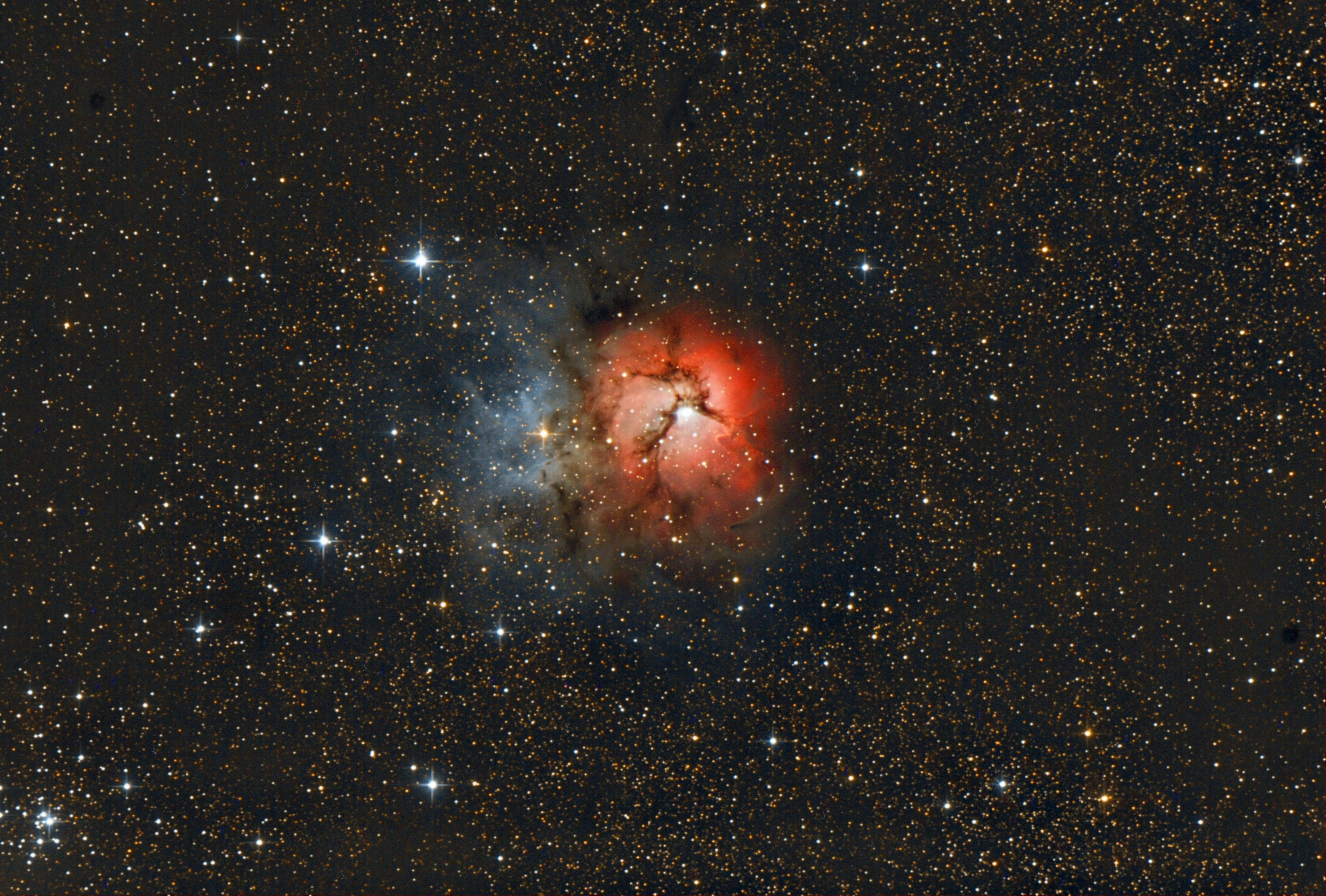M20 The Trifid Nebula. June 2013. Shawn Nielsen