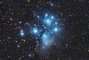 the Pleiades star cluster, M45, Shawn Nielsen, 2010