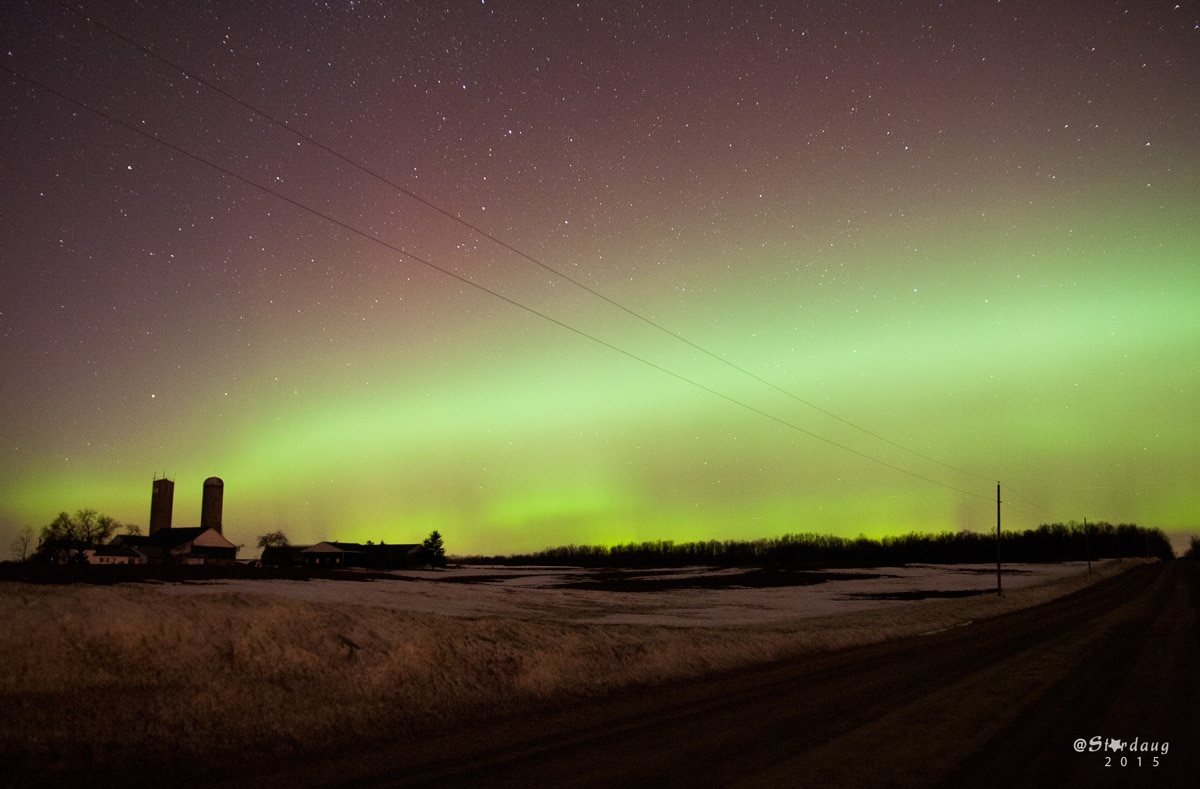 March 17 2015 Northern Lights. Shawn Nielsen