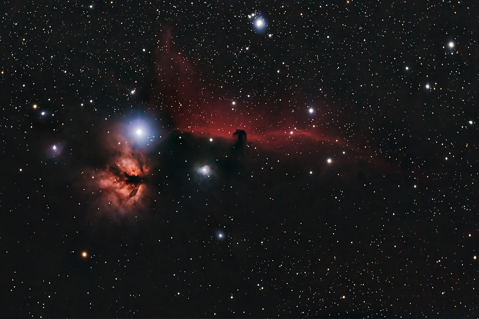 Horse Head and Flame Nebulae. November 2010