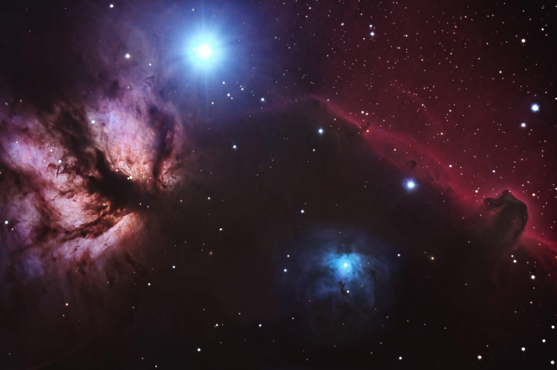 Horse Head Nebula and Flame Nebula. November 2010