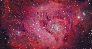 M8 The Lagoon Nebula. July 2010