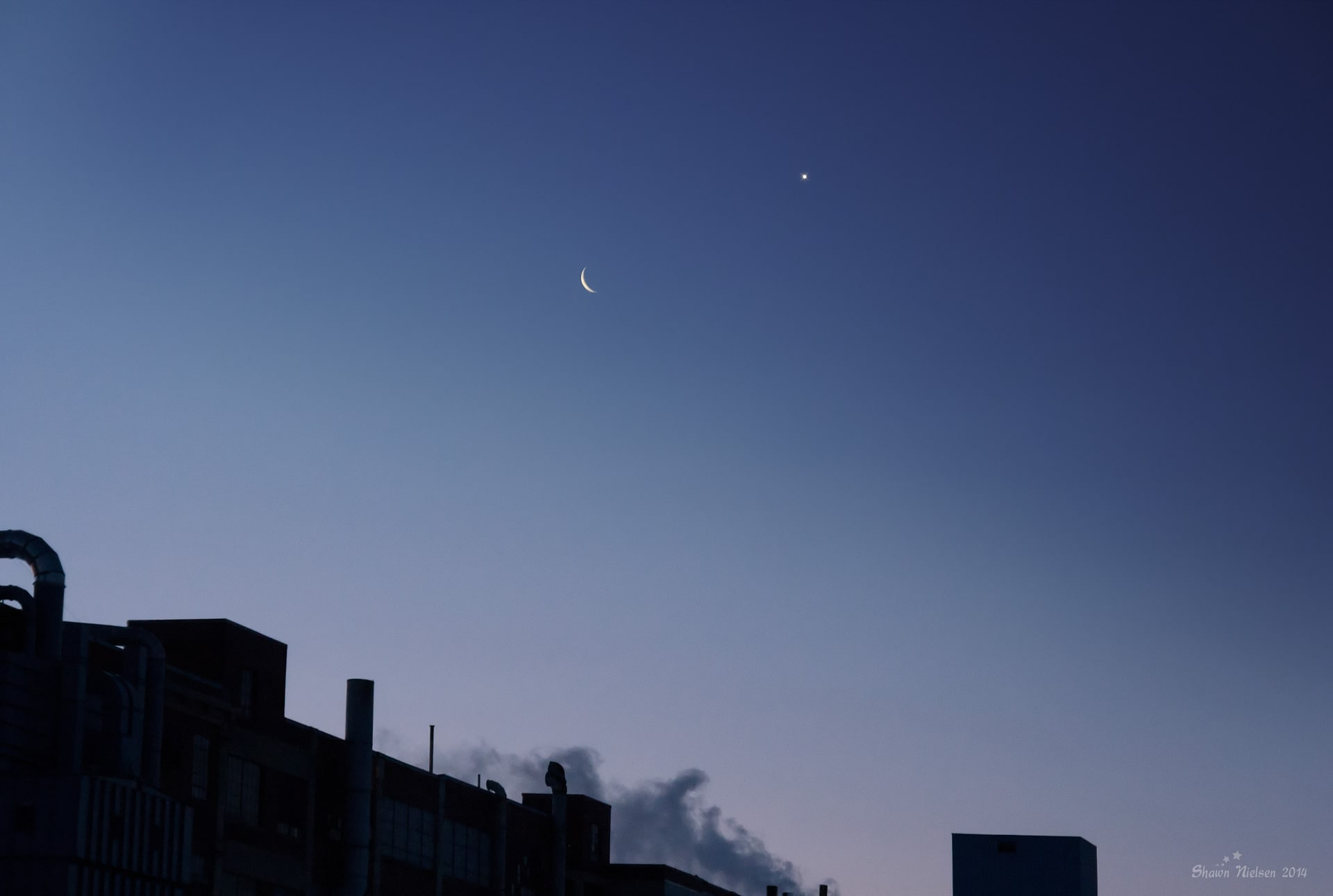 Moon and Venus February 26, 2014