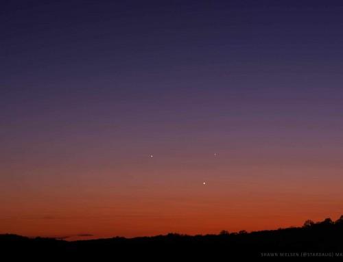 Planetary Triple Play of Jupiter, Venus and Mercury