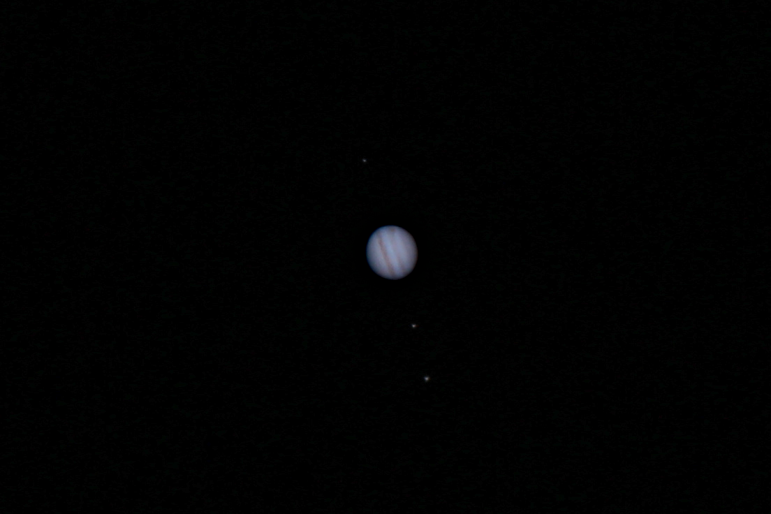 Planet Jupiter photographed April 13, 2016 from Kitchener Ontario