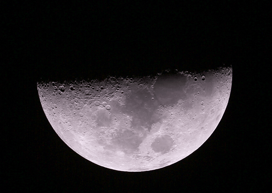 First quarter Moon Kitchener, Ontario
