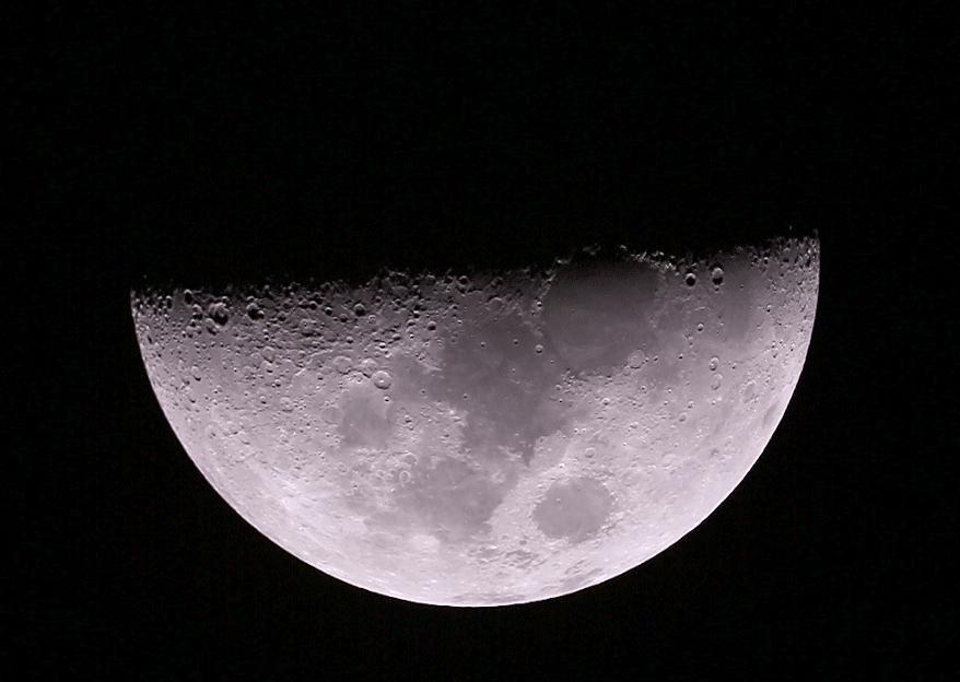 First quarter Moon Kitchener, Ontario