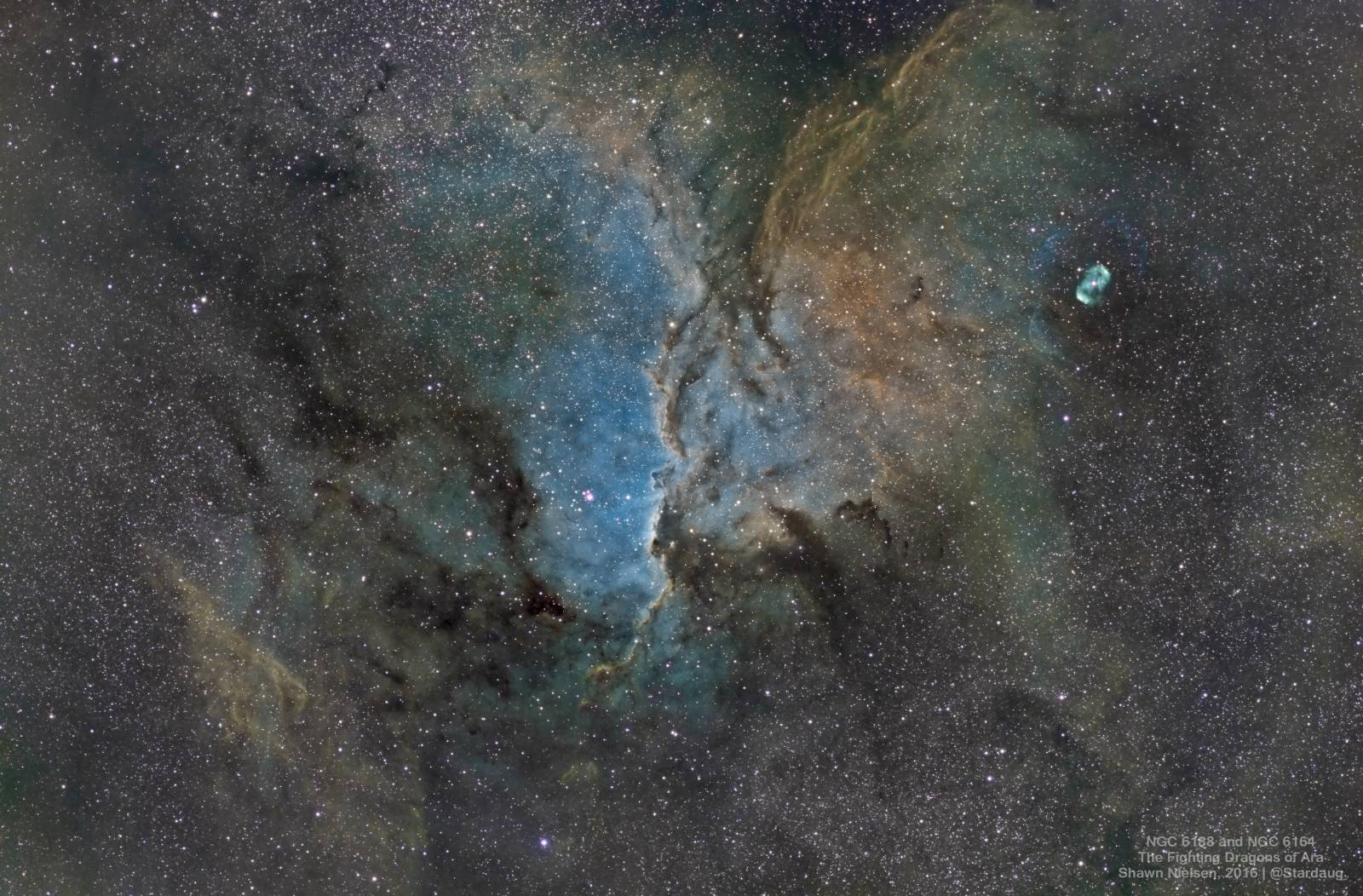 Fighting Dragons of Ara NGC 6188