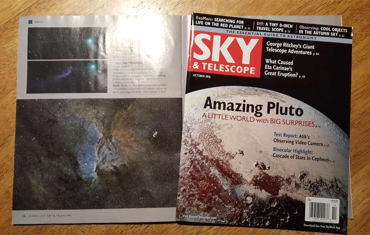 NGC 6188 by Shawn Nielsen featured in Sky and Telescope Magazine, October 2016 issue