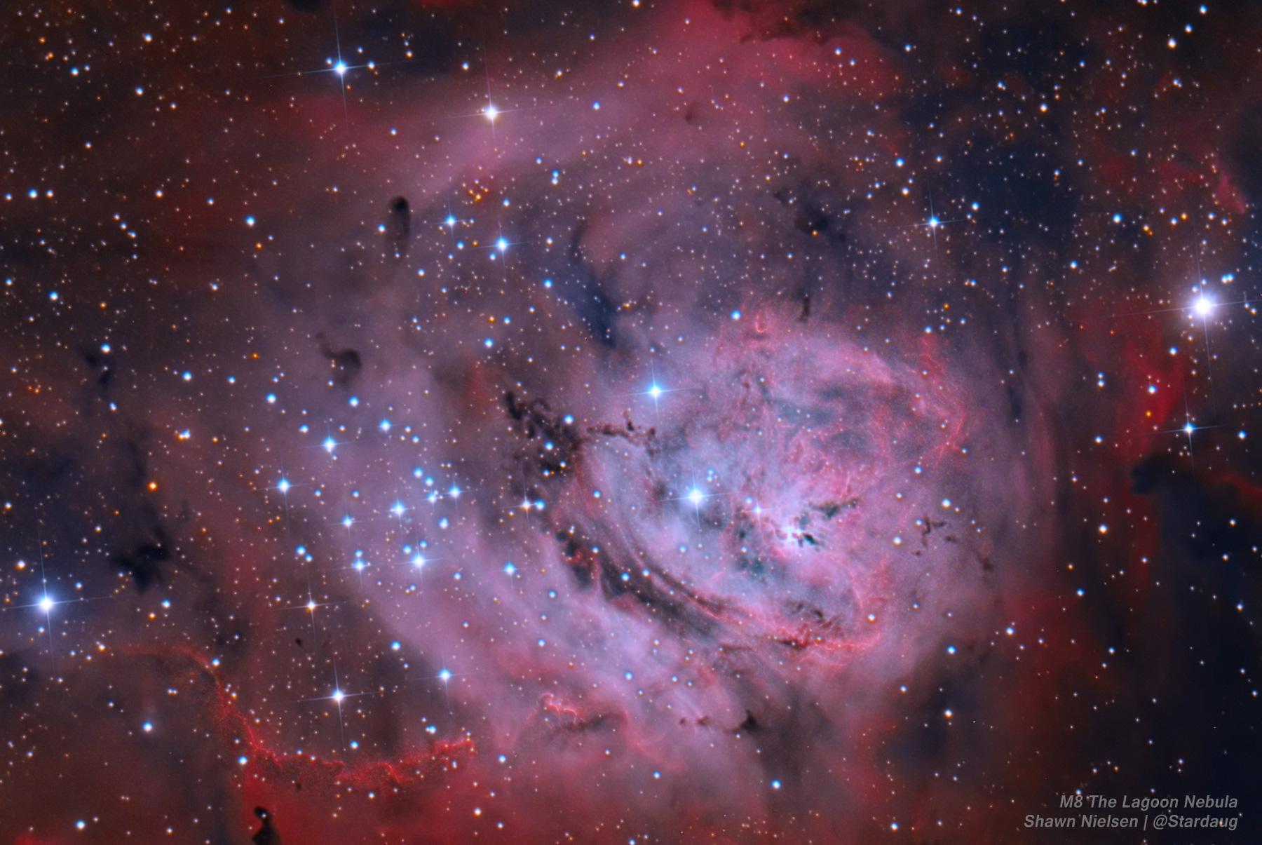 The Lagoon Nebula M8 reprocessed