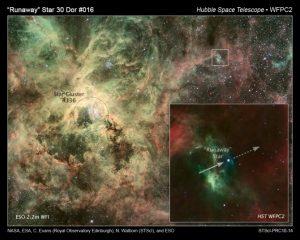 Tarantula Nebula NGC 2070 runaway star