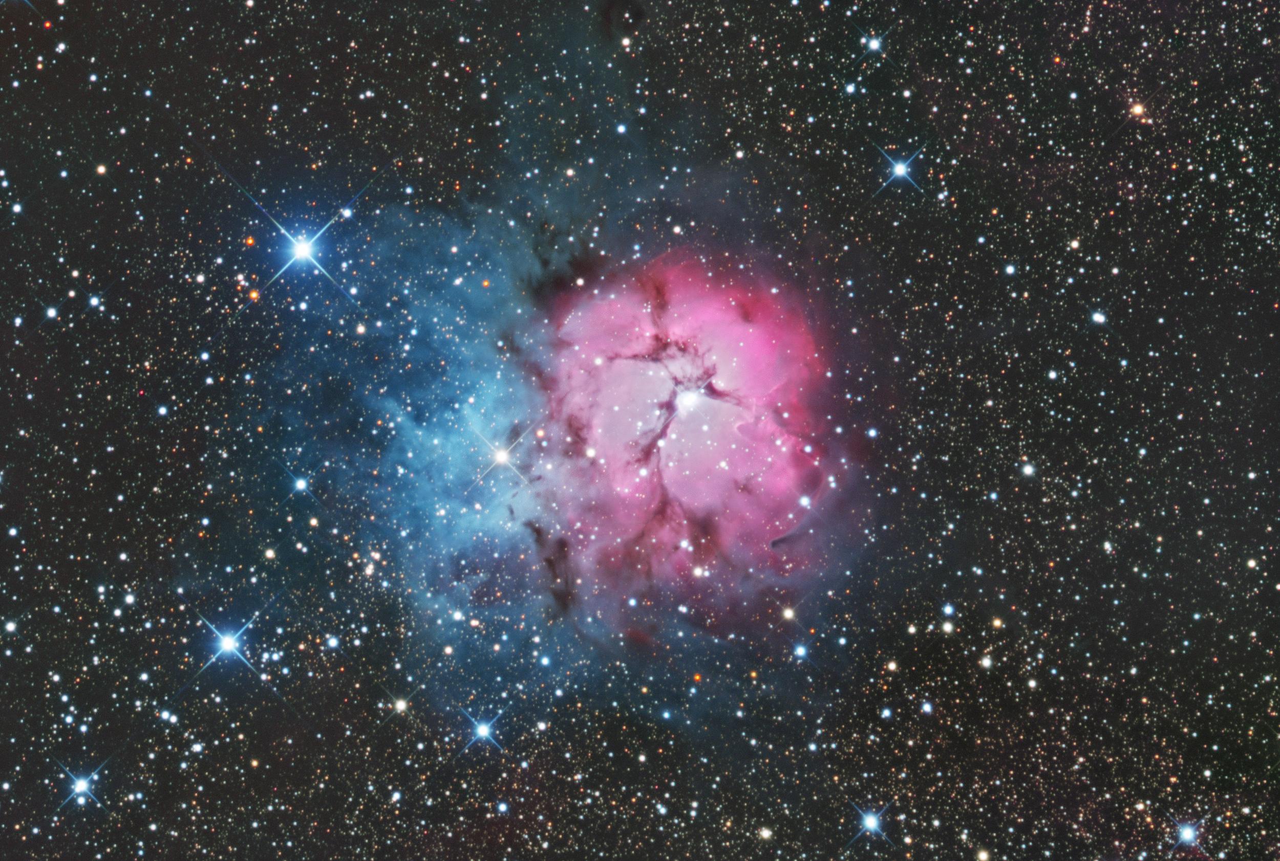 Return To M20 The Trifid Nebula Visibledark