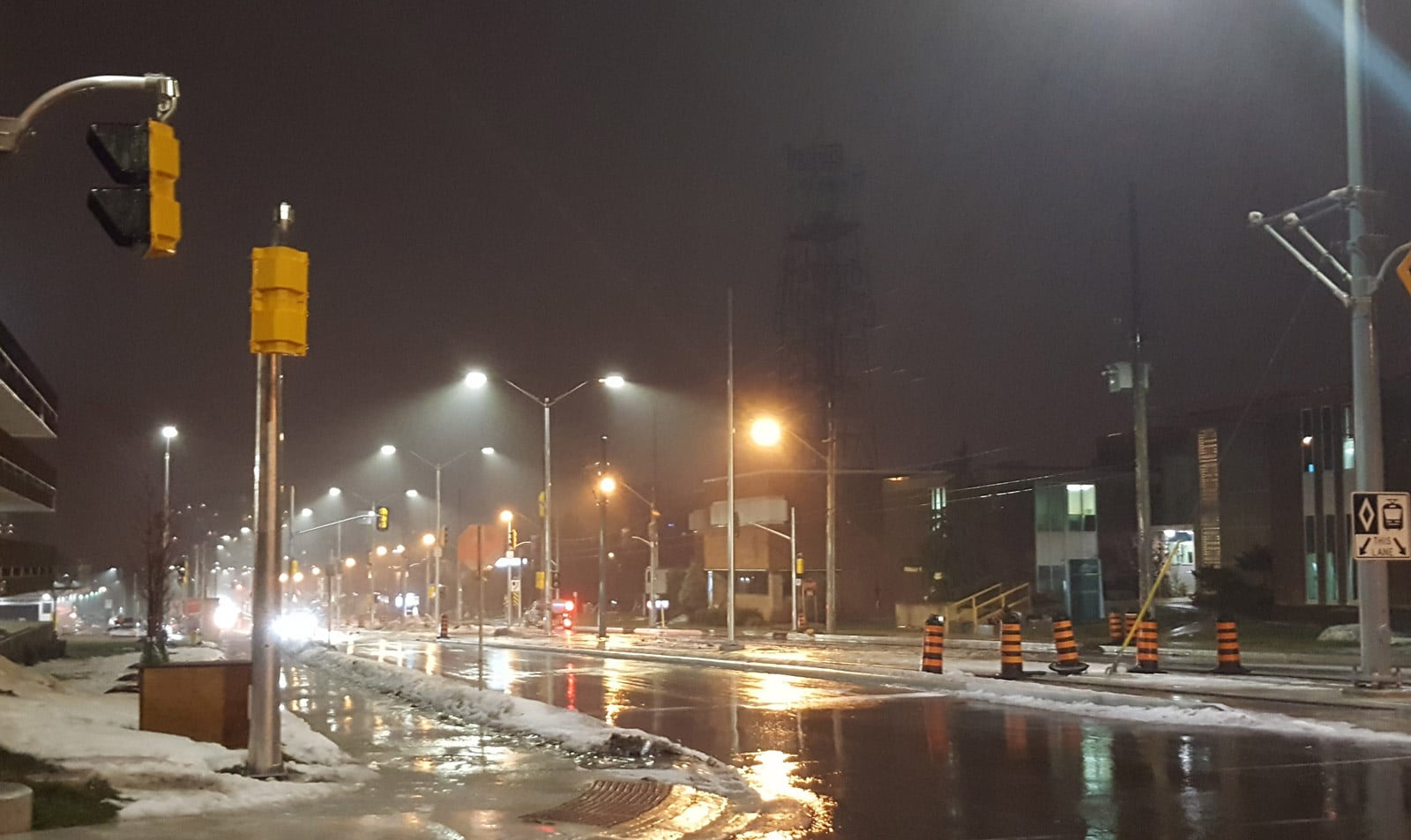 4000K LED street lights in Kitchener Ontario