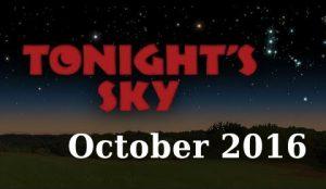 October night sky 2016