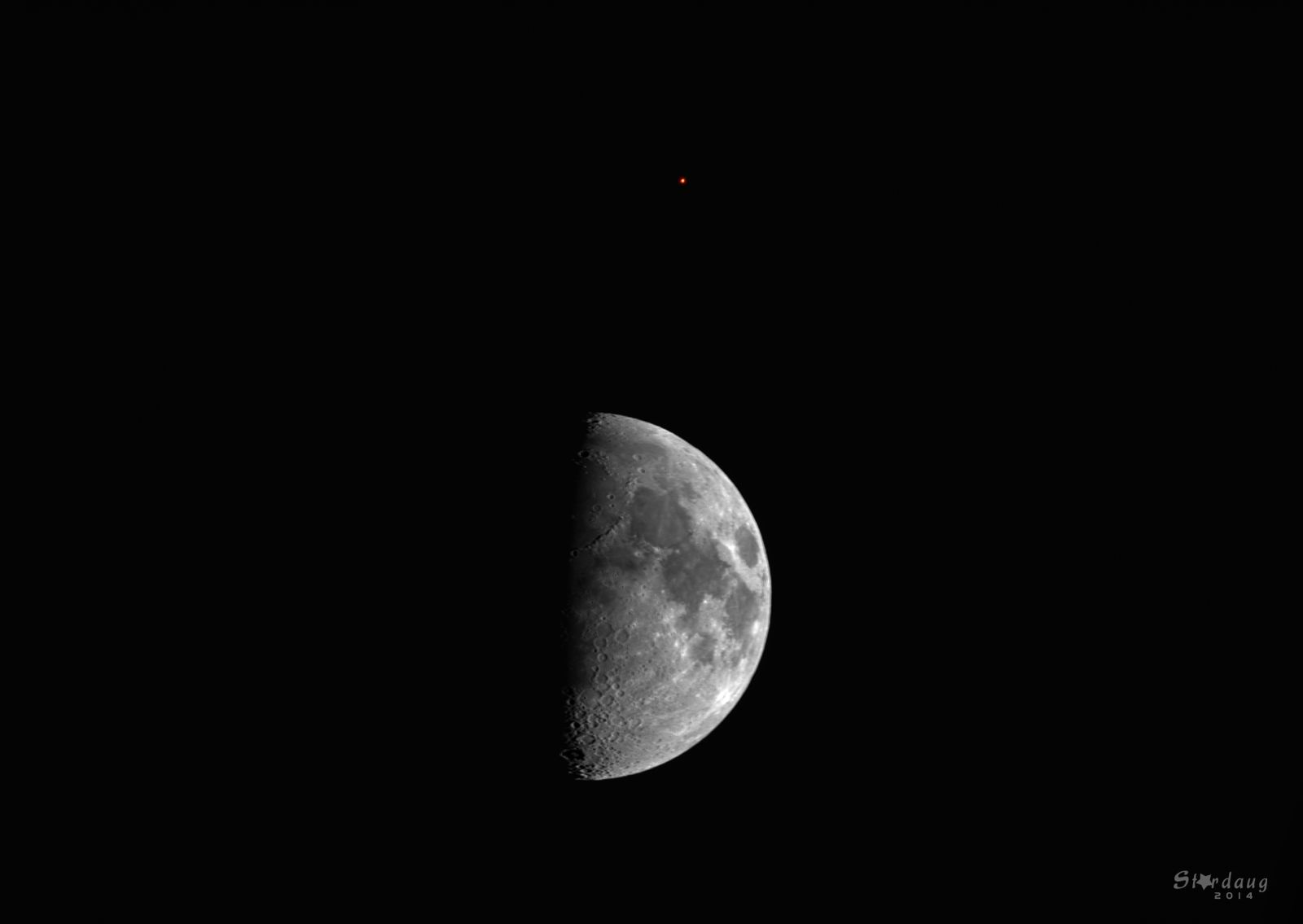 Moon and Mars conjunction