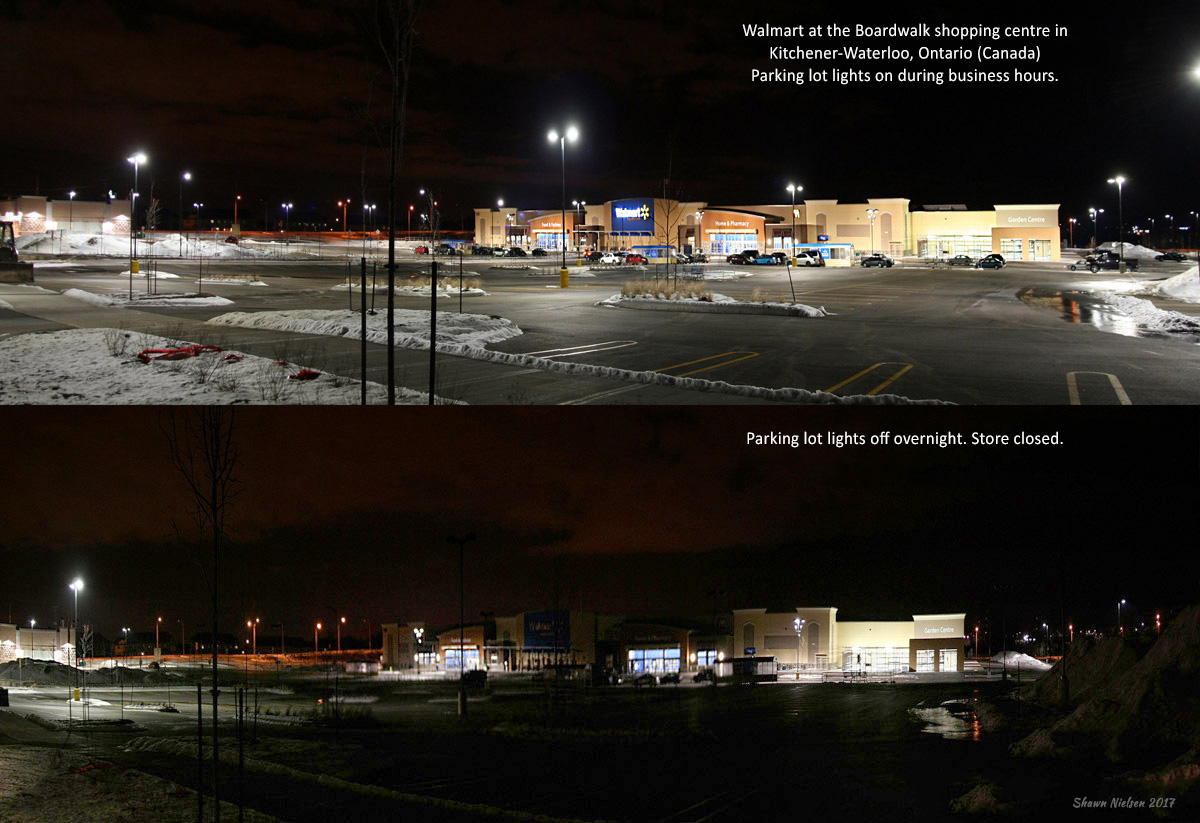 Urban Lights Kitchener Lights Off Overnight At Kitchener Walmart To Help Reduce Light