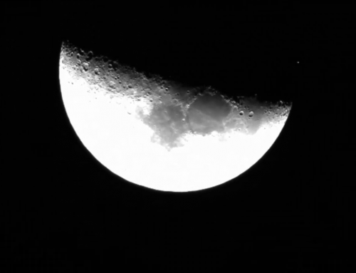 Moon makes Aldebaran disappear on the evening of Mar 4th 2017