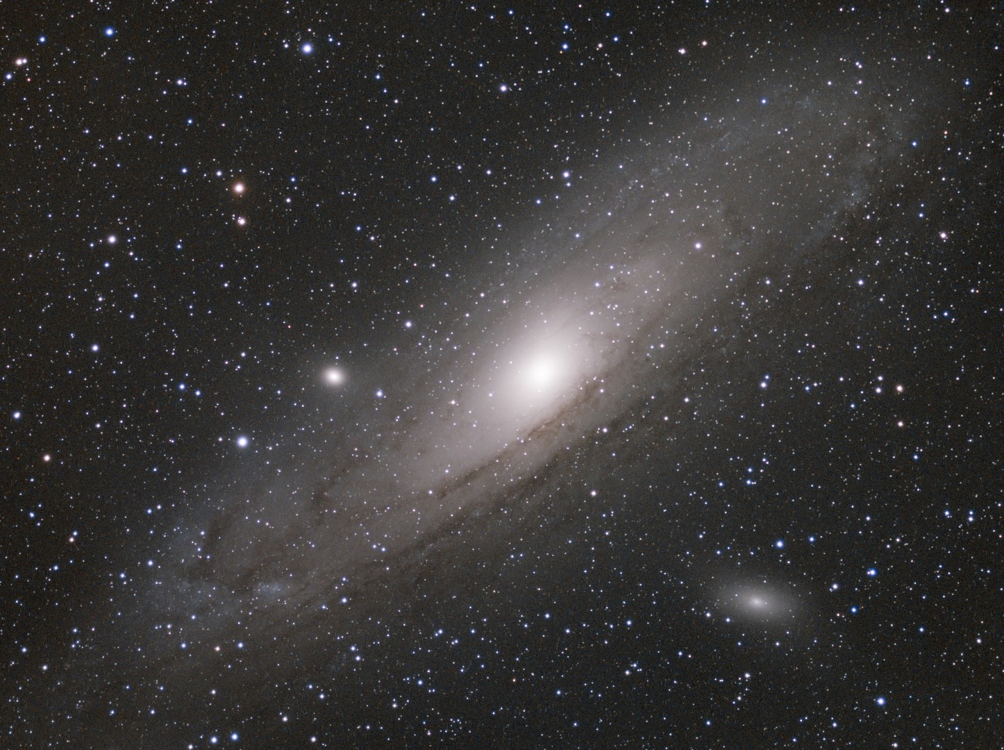 M31 90min LRGB test image with ASI1600mm-cooled