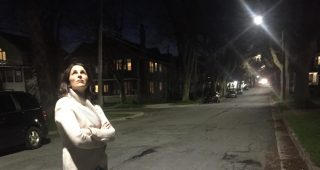 Halifax resident Hillary Harris says her whole family is awake due to the new LED street lights the city installed right across from her front porch. (Courtesy of Hillary Harris)