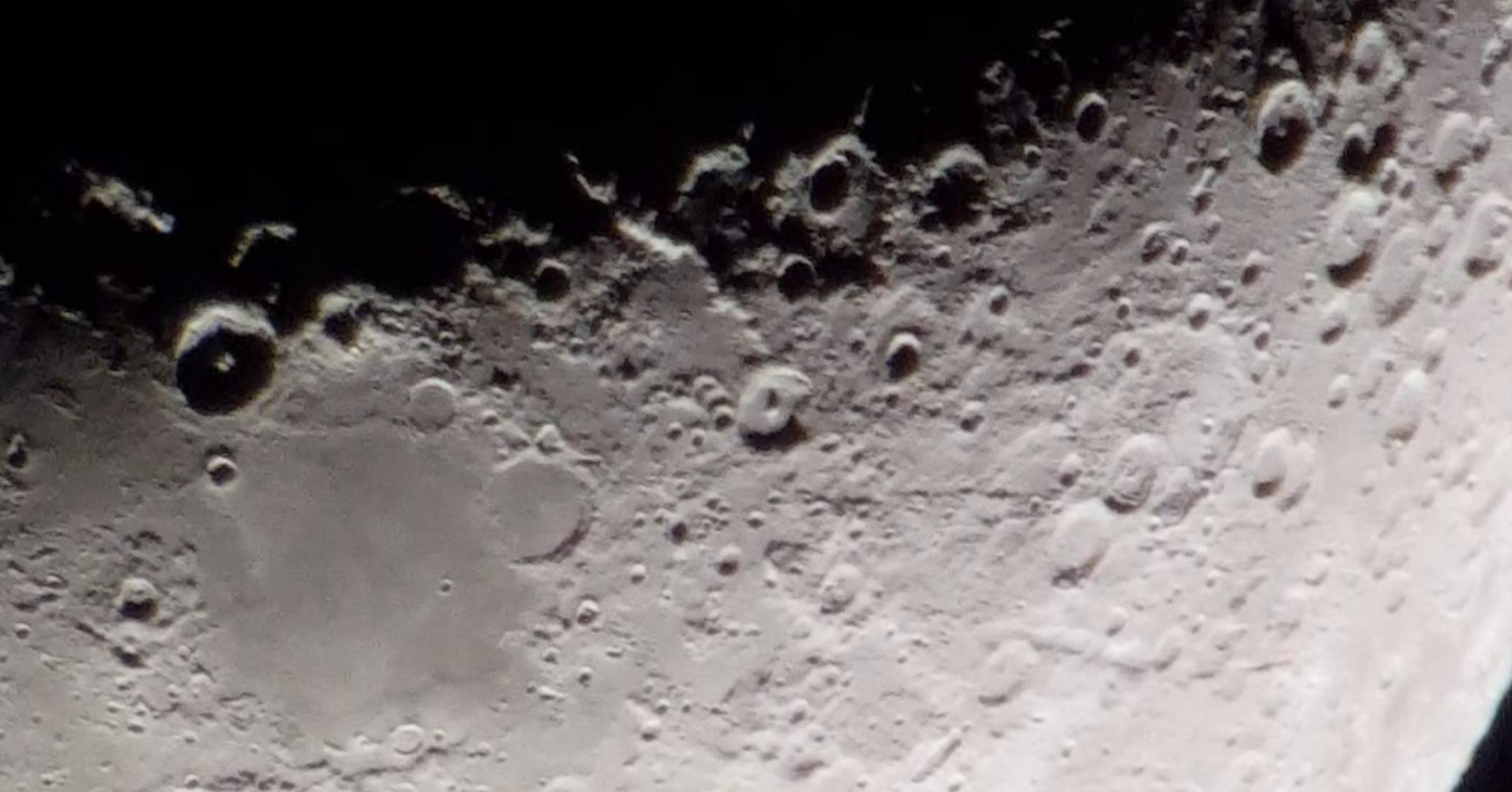 Moon video using smartphone