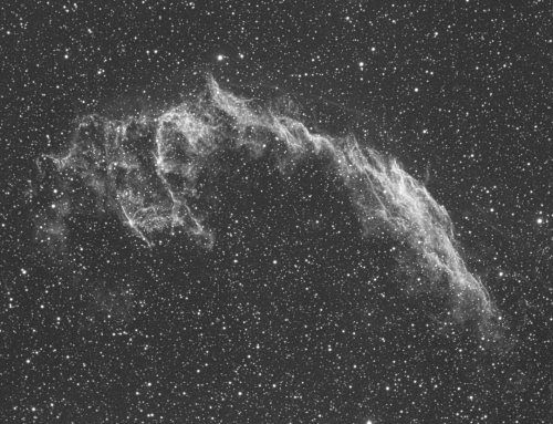Eastern Veil narrowband H-alpha with Esprit 100 triplet refractor and ASI1600MM-C
