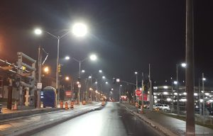 4000K LED street lights in Kitchener, Ontario