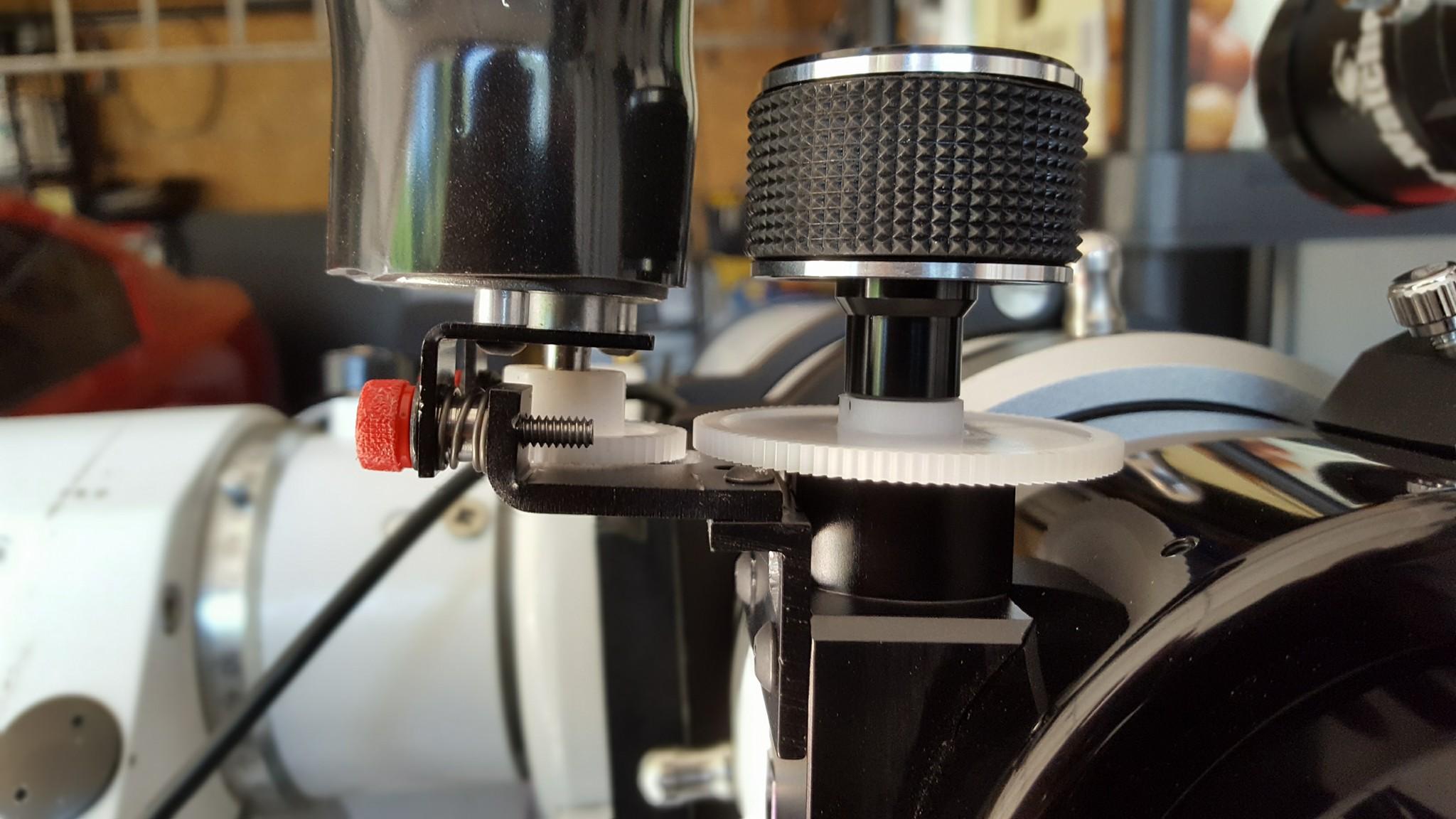 New hardware arrives for Rigel motorized focusing of Esprit 100