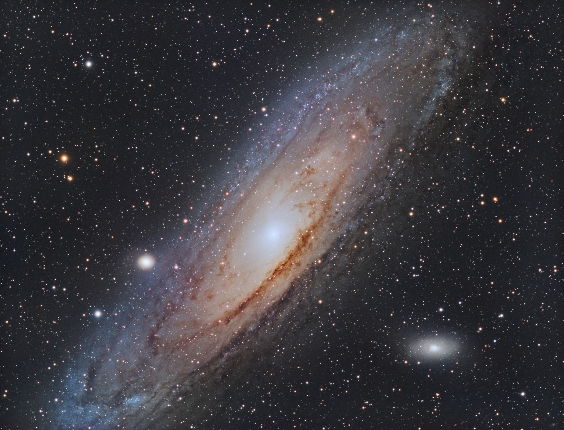 M31 Andromeda Galaxy ASI1600MM-C and Esprit 100