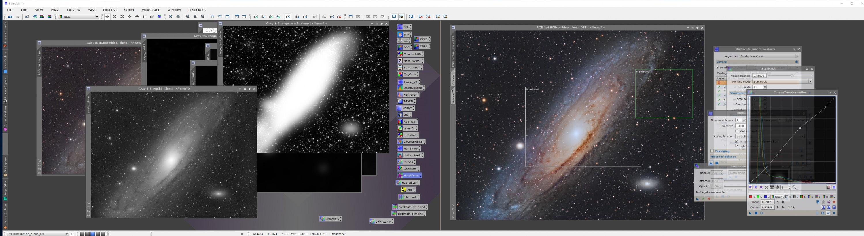 processing M31 Andromeda Galaxy