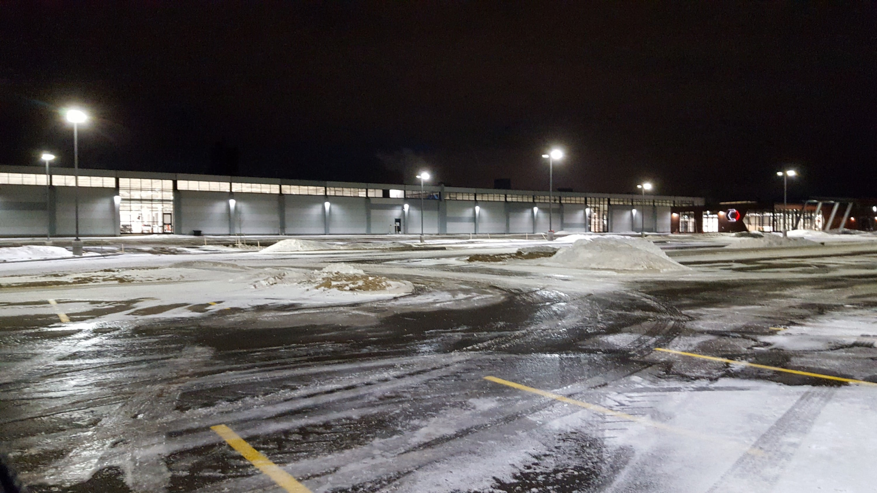 with premium municipality parking lot canada light lighting groningen garage first fills outdoor image led