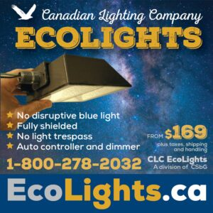 Eco lights reduce light pollution. Perfect for home or cottage outdoor lighting!