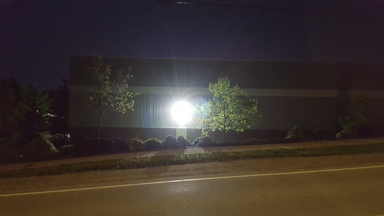 LED wallpack light unshielded.