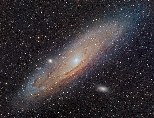 Meet M31 Andromeda Galaxy; taken with Esprit 100 and Moravian G3-16200EC