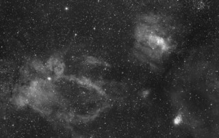 Lobster claw, bubble nebula and open cluster M52