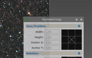 dynamic crop in pixinsight