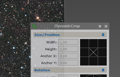 dynamic crop in pixinsight
