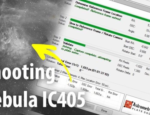 Imaging nebula IC405!