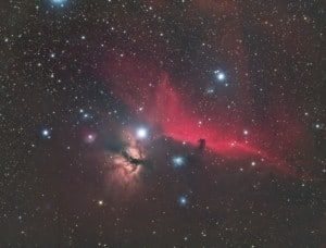 Horsehead and Flame Nebulae