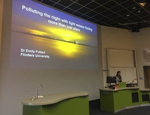 Dr. Emily Fobert; polluting the night with light
