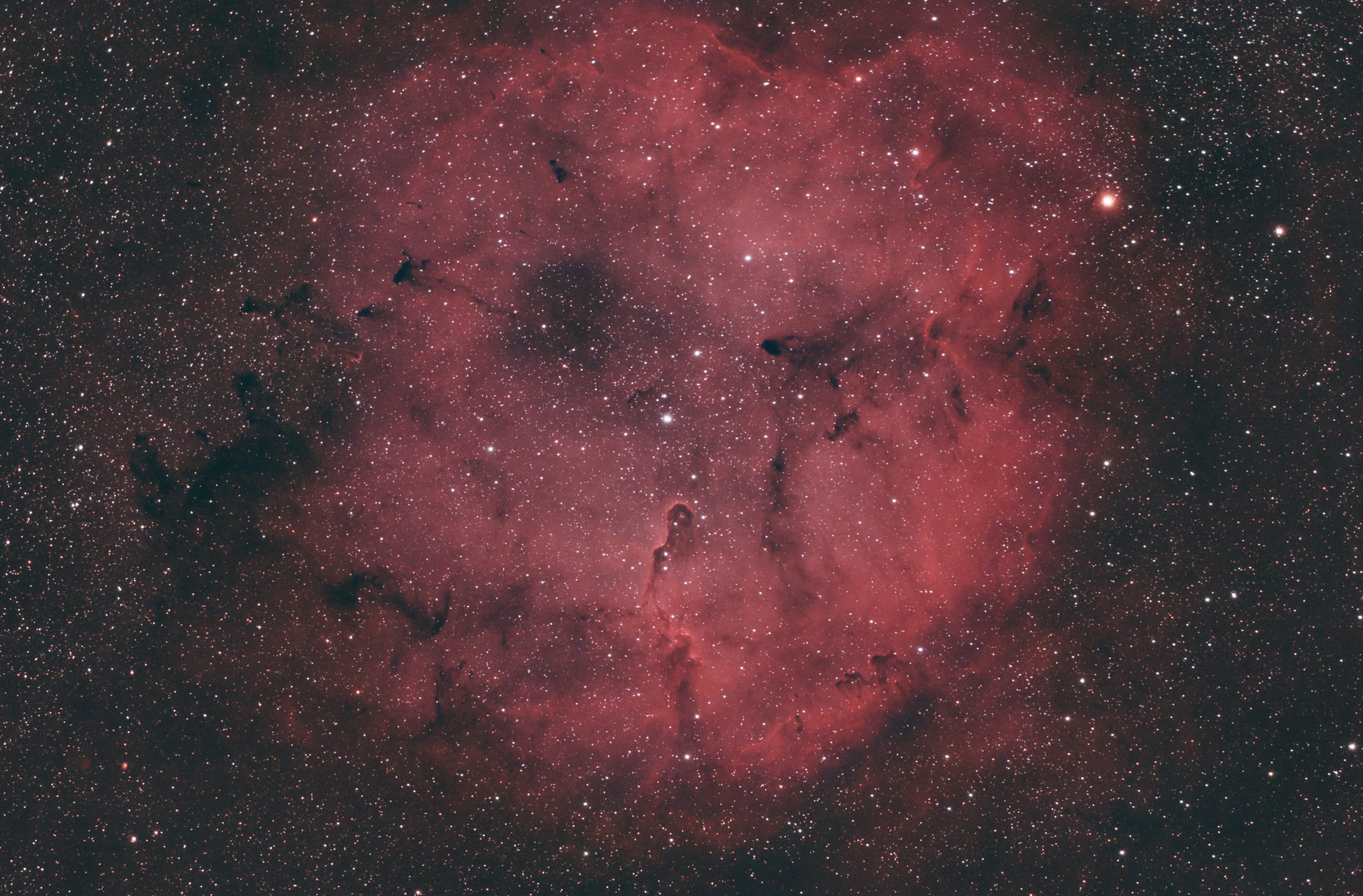 4.5 hours IC1396 using Triad Quadband Ultra filter