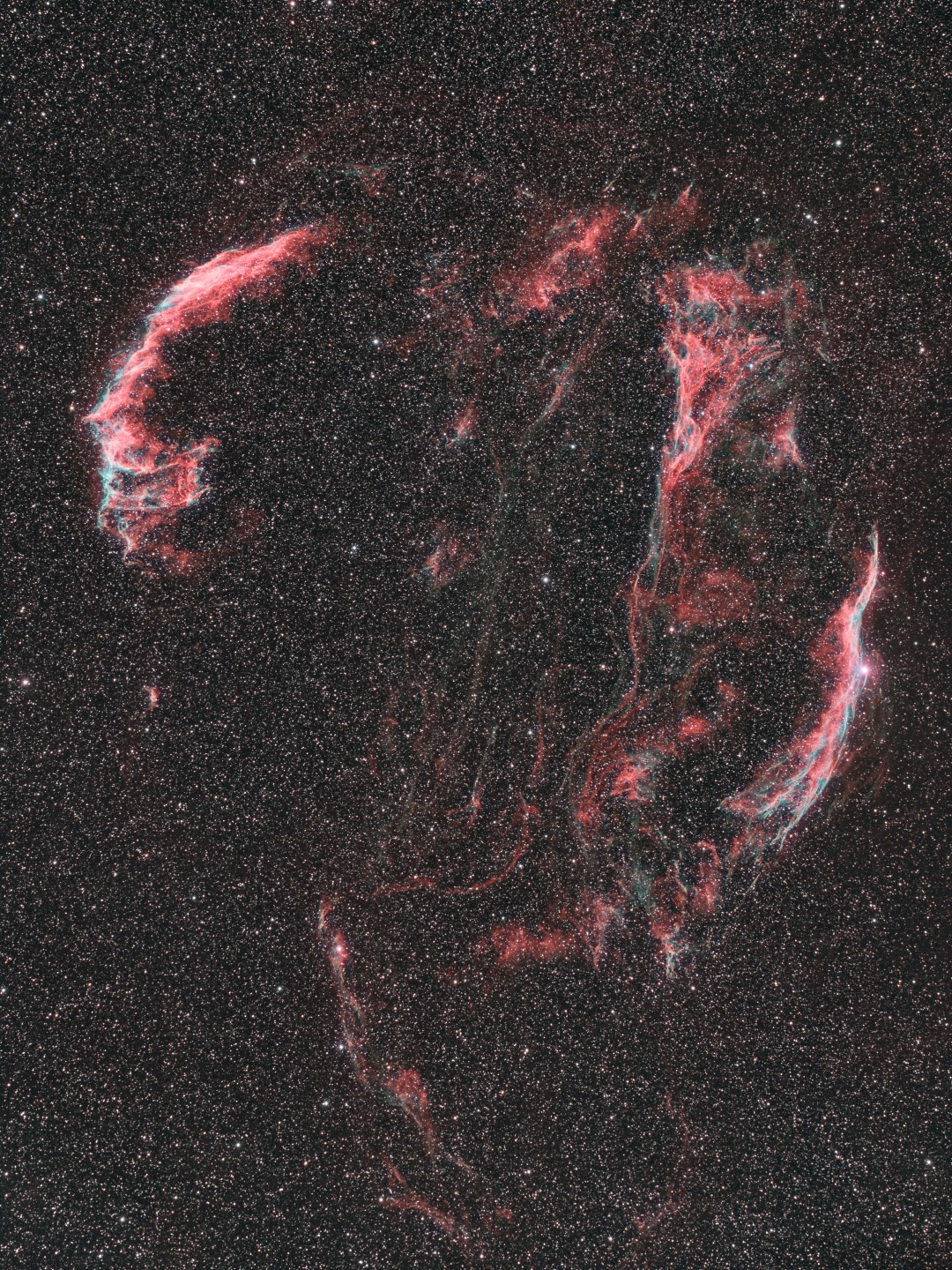 Veil super nova remnant captured by Ron Brecher using an Optolong L-eNhance filter