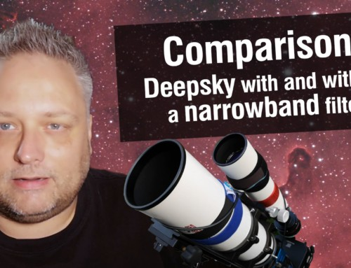 Deepsky astrophotography with and without a narrowband filter